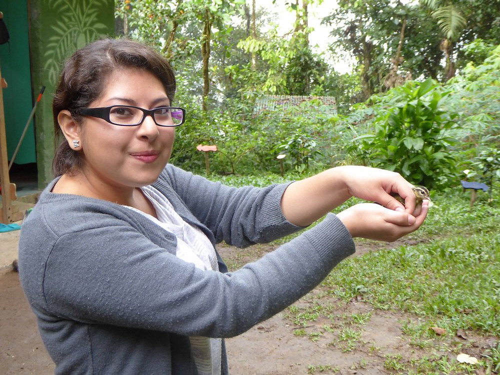 Student releasing the Warbler