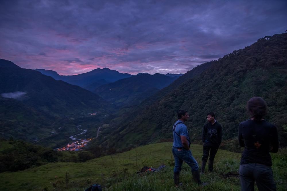 Watching the sunrise above Maldonado. ©Jens Bokelaar