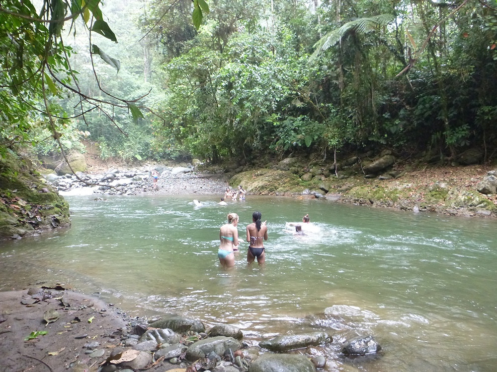 Refreshing swim in the Pachijal