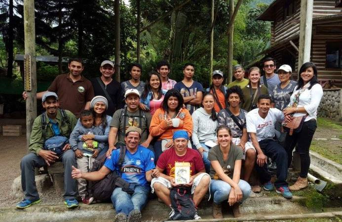 Mindo Naturalist Guides Asociation and friends after desconteo