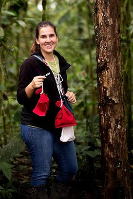 Nicole Büttner, station manager at biological station Un poco del Chocó in Ecuador South America