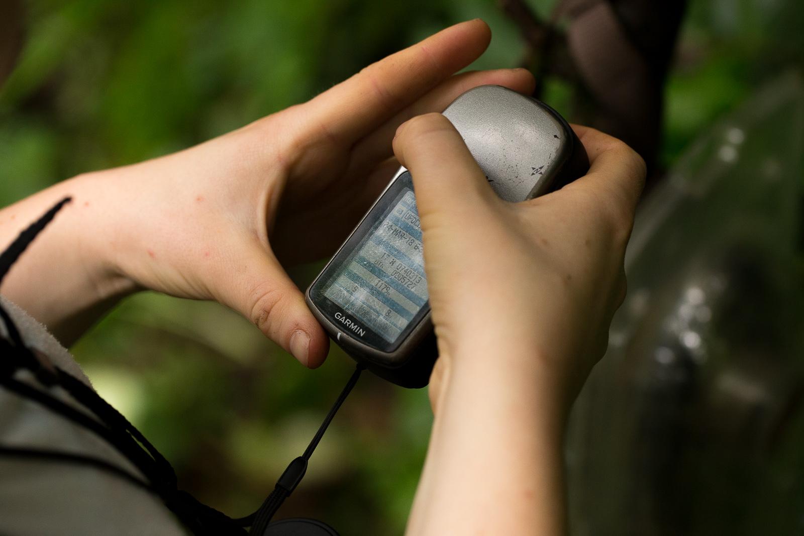 Taking GPS data