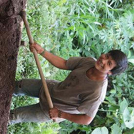 Christian Montalvo, Mitarbeiter bei Biologischer Station Un poco del Chocó in Ecuador Südamerika