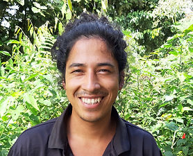 Christian Montalvo at biological station Un poco del Chocó in Ecuador South America