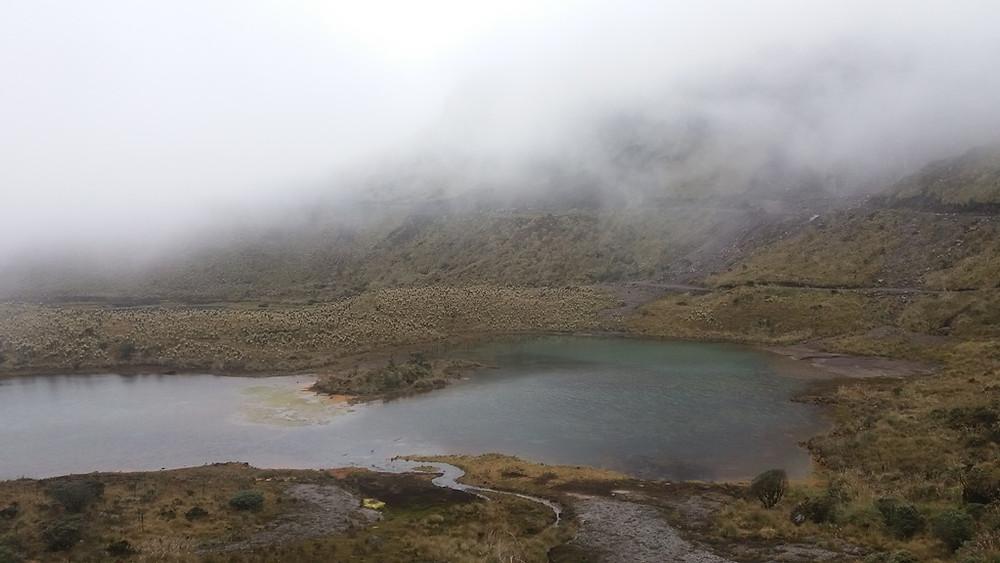 Lagunas verdes, the green lakes in the paramo
