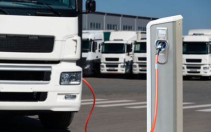 Electric truck with charging station. Co