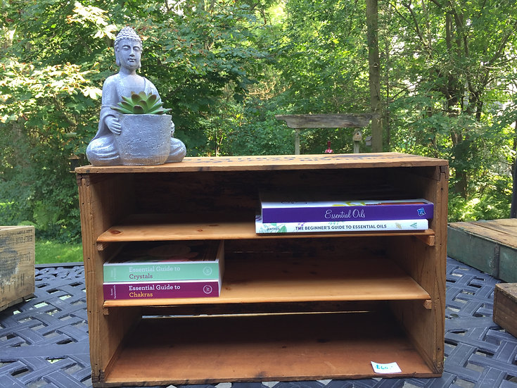 Repurposed Wood Box with Shelves