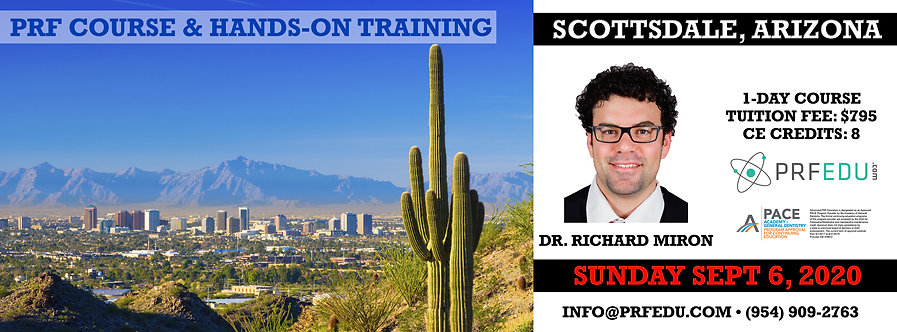 1 day PRF Course in Scottsdale, September 6, 2020