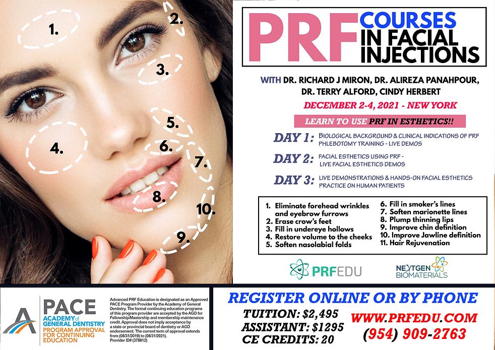 PRF Facial Aesthetics December 2-4, 2021