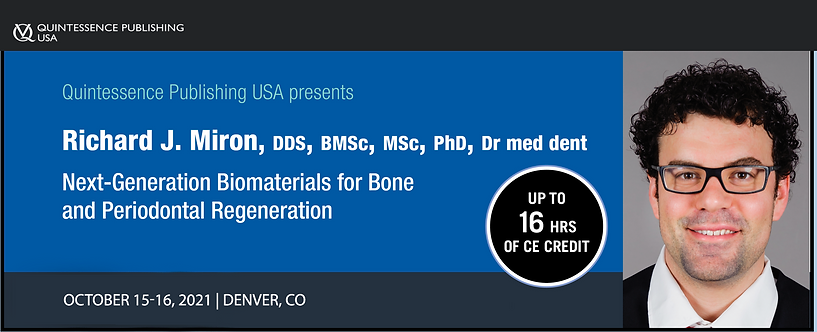 2 day PRF, Biomaterials and Lasers Course, October 15-16, 2021 Denver, CO