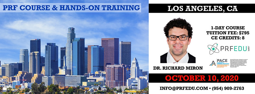 1 day PRF Course in Los Angeles, October 10, 2020