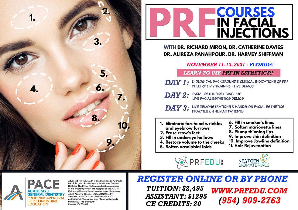 PRF Facial Aesthetics November 11-13, 20