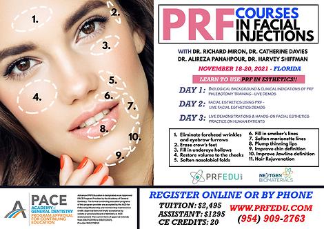 PRF Facial Esthetics Course November 18-20, 2021