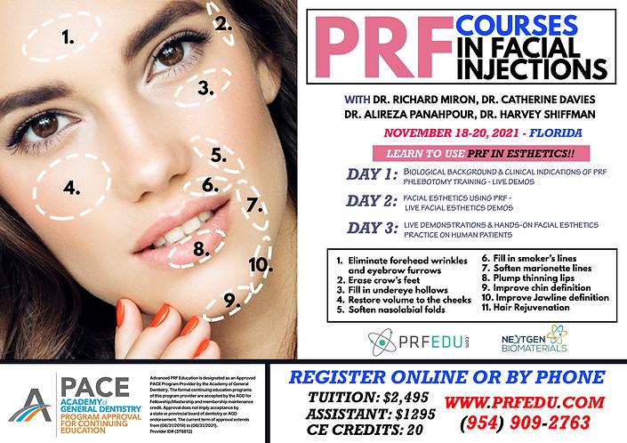 PRF Facial Aesthetics November 18-20, 20