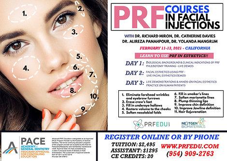 PRF Facial Esthetics Course February  11-13, 2021