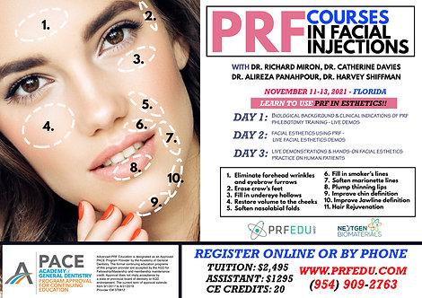 PRF Facial Esthetics Course November 11-13, 2021