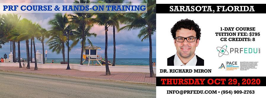 1 day PRF Course in Sarasota, October 29, 2020