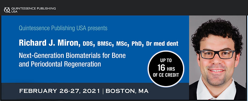 2 day PRF, Biomaterials and Lasers Course, February 26-27, 2021 Boston, MA