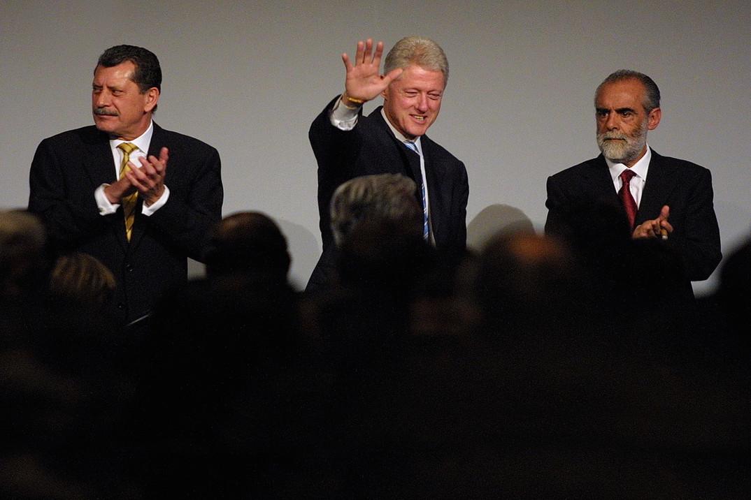 Enrique Jackson PRI Senator,US President Bill Clinton,Diego Fernandez de Cevallos