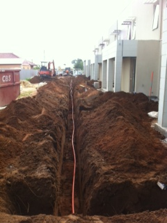Underground Mains for Unit Complex