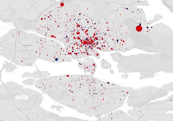 GIS visualisering data stockholm exempel