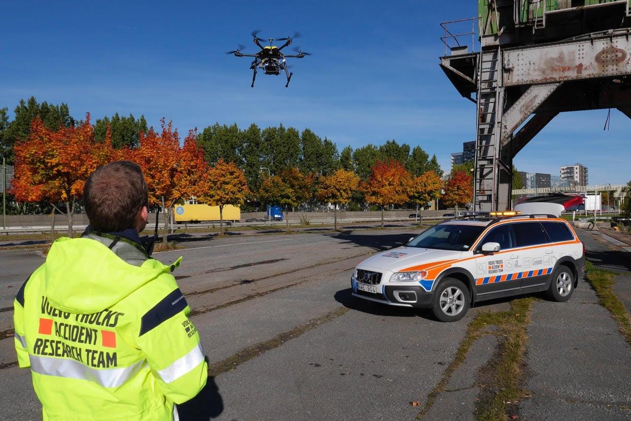 Volvo drone ART utbildning exempel