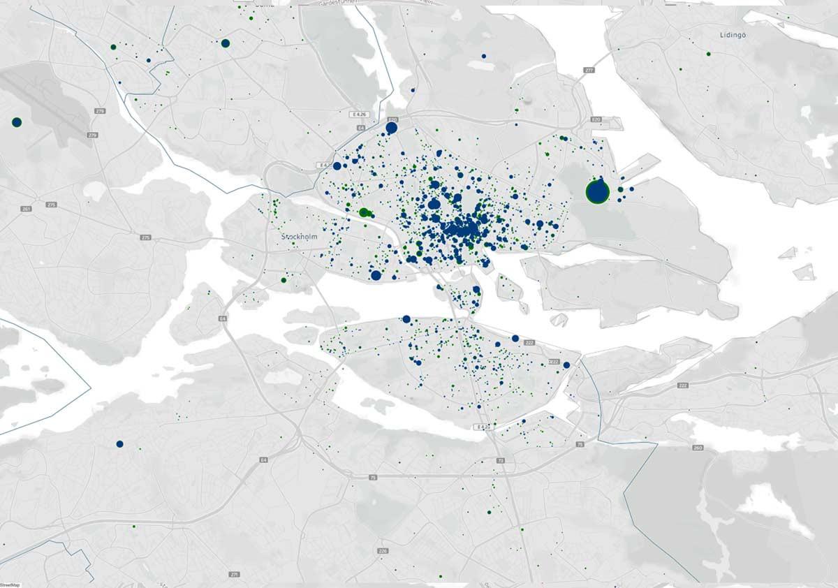 GIS visualisering data stockholm exempel 2