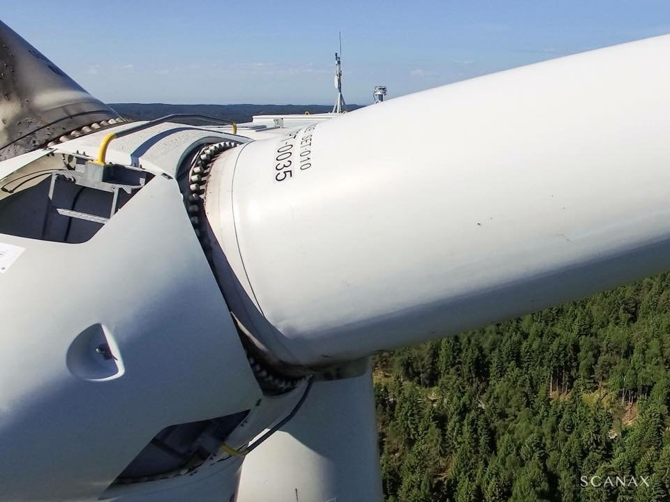 Inspektion av vindkraftverk