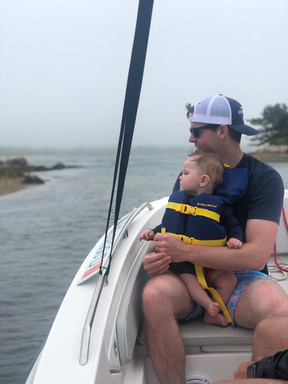 Baby's first day on the water!
