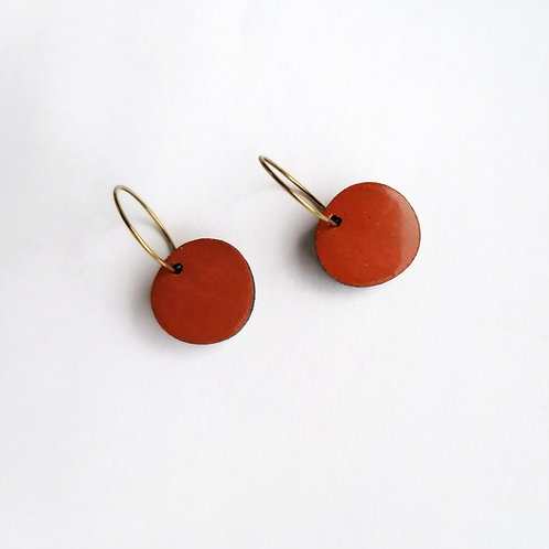 WHOLESALE Orange Sun Hoop Earrings