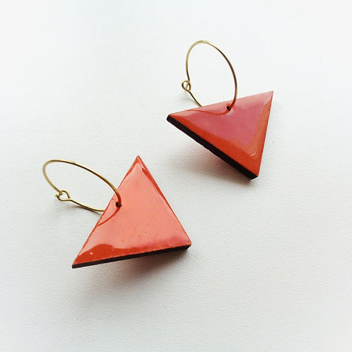 WHOLESALE Minimal Retro Orange Geometric Hoop Earrings