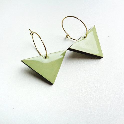 Minimal Mint Green Geometric Hoops