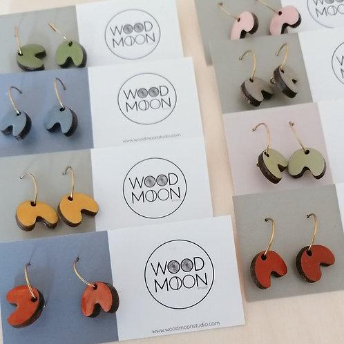 Colourful Arc Mini Hoop Earrings