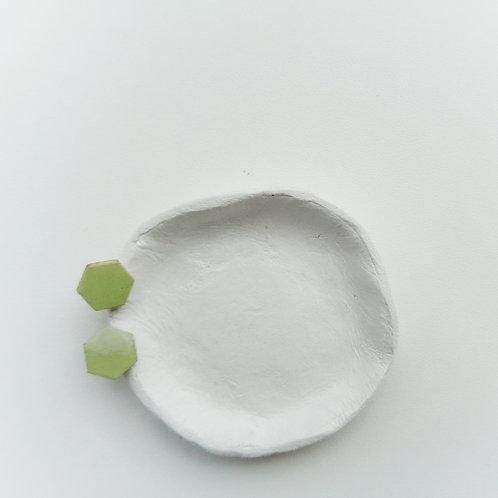 Simple Mint Green Hexagon Studs