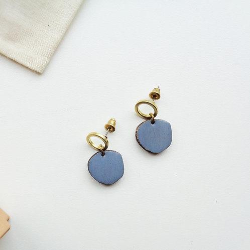 New Moon + Blue Earrings