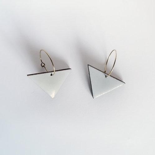 Minimal Icy Blue Geometric Hoop Earrings