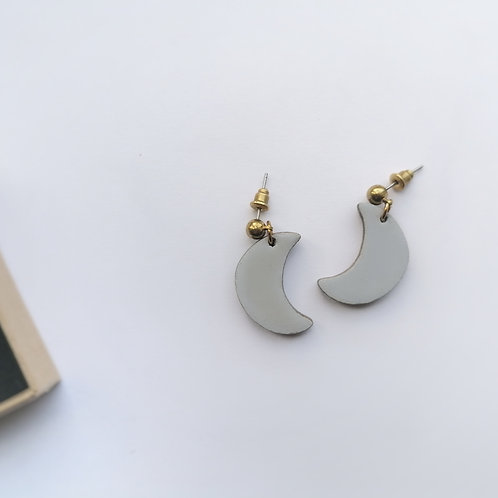 Icy Blue Moon Drop Studs