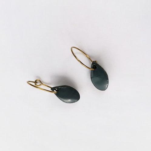 Raindrop Hoop Earrings
