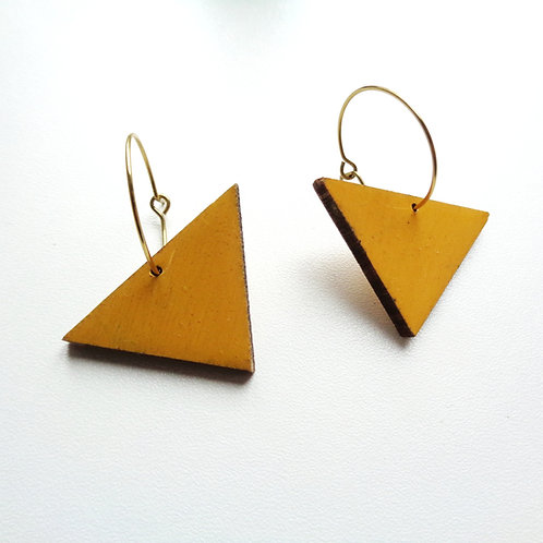 Minimal Sunshine Yellow Geometric Hoops