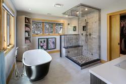 Split Rock Lake House - Rear Elevationlit Rock Lake House - Master Bedroom