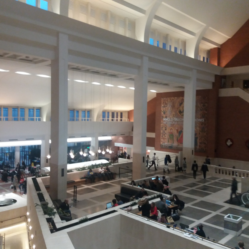 British library interior. Main Hall