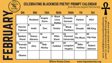Celebrating Blackness Poetry Prompt Calendar for February