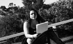 Poet Jessica Wilson at Topanga Canyo
