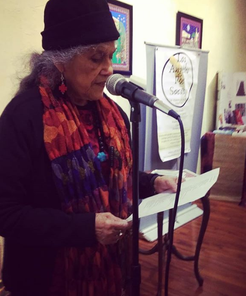 Sharing a poem at Tonalli Thursdays Open Mic.