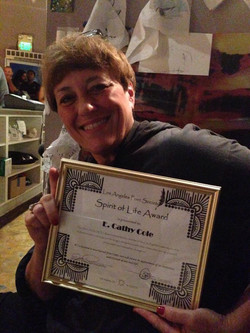 Cathy Cole gets Spirit of Life Award