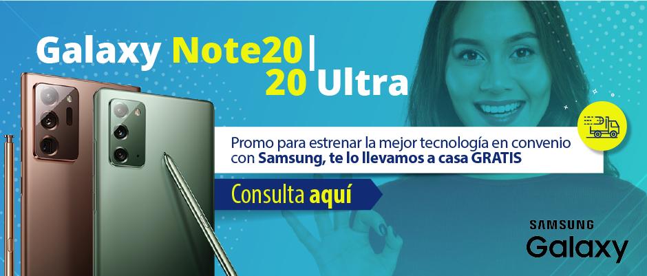 Oferta de convenio con Samsung Galaxy Note 20 o Note 20 Ultra