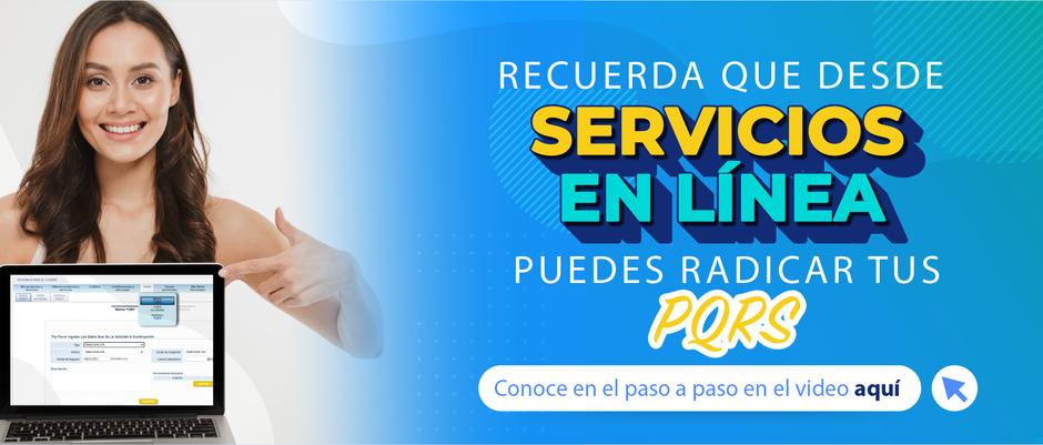 Radica tus PQRS desde Servicios en línea