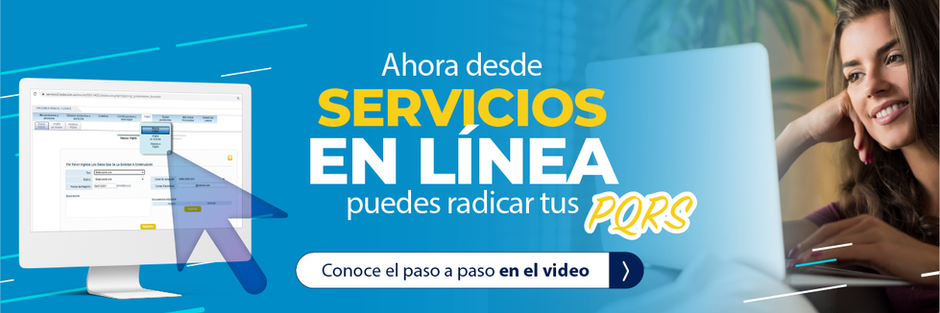 Ahora en Servicios en línea puedes radicar tus PQRS