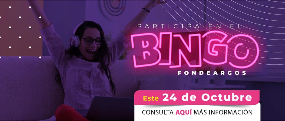 Bingo Fondeargos, juega, diviértete y participa por premios