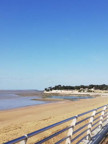 plage Nord à marée basse en janvier